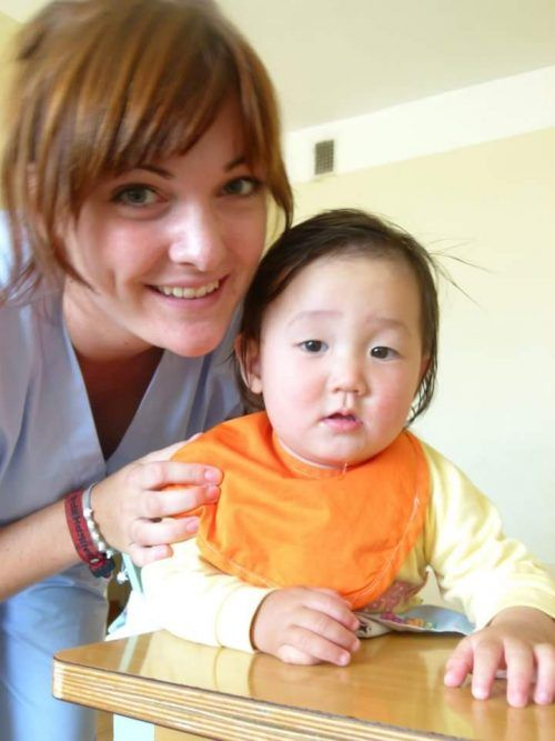 A photo of Project Manager Charlotte Gibbs during her time in Mongolia