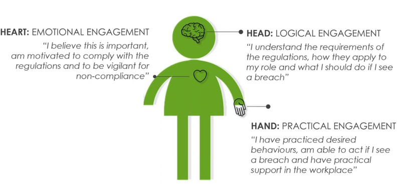 The LEO Learning learner 'head hand and heart' engagement model