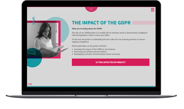 GDPR eLearning screenshot