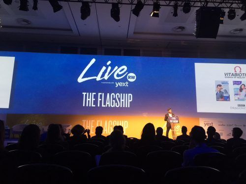Live conference stage