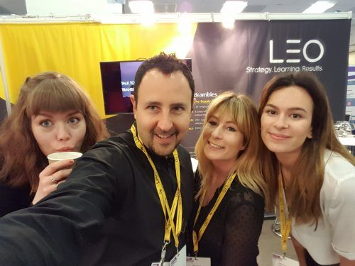 LEO members taking a selfie