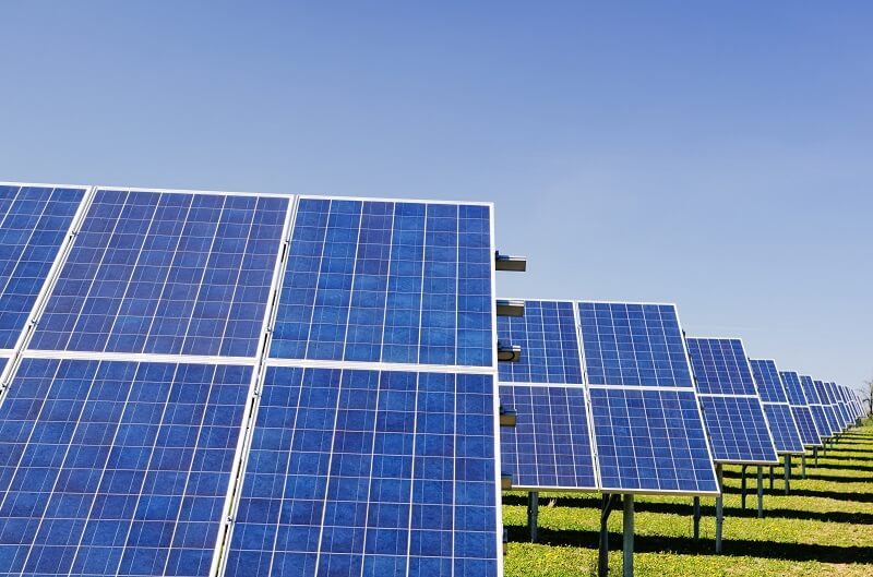 Image of solar panels - green investment banks learning strategy case study
