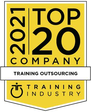 Yellow award logo with black text that reads