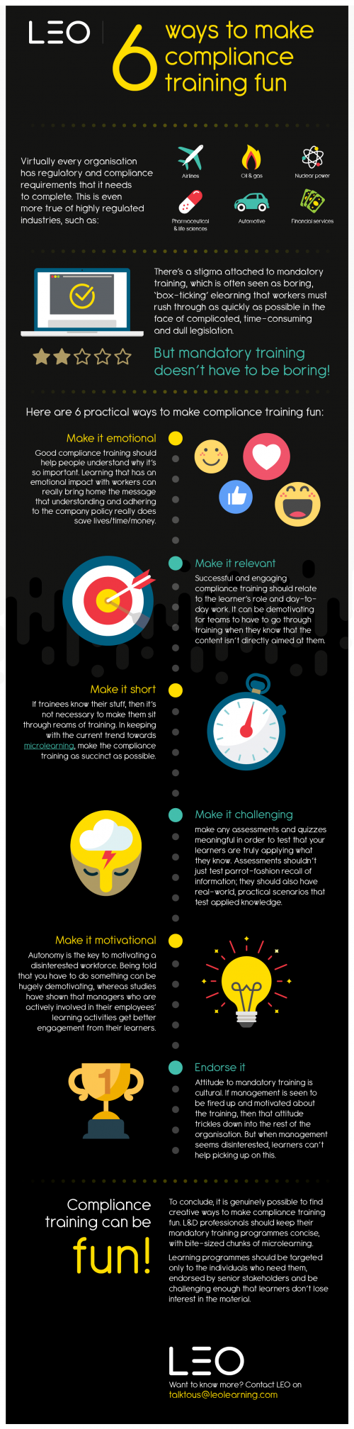 Infographic 6 ways to make compliance fun