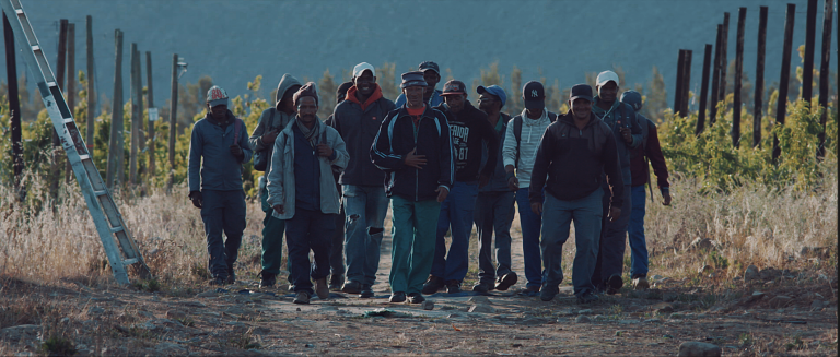 A group of workers in South Africa from a video by LEO GRC partner Stronger Together. Together, the two organizations have created eLearning around forced labour and modern slavery, as well as a tackling modern slavery podcast series