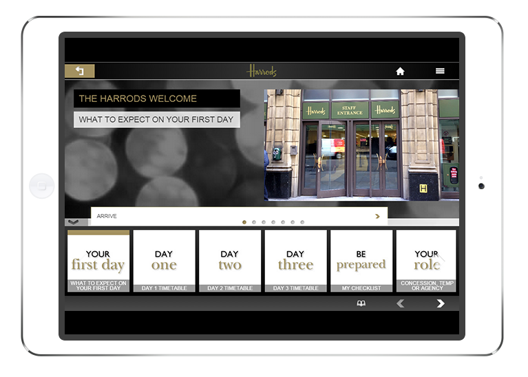 Harrods multi-device eLearning