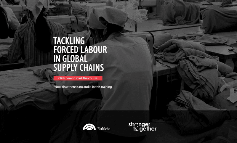 LEO's modern slavery courses focus on forced labour
