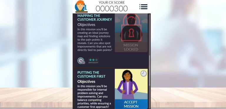 LEO Learning designed award-winning eLearning game Impact Cx The Quest for LOMA