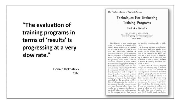 Slides from Will Thalheimer's Learning Technologies session, 'Transforming Evaluation'