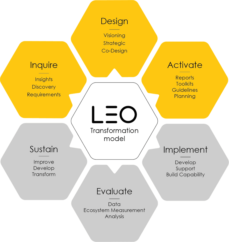 LEO Learning Transformation Model