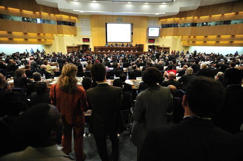 Large gathering of people attending a leadership training conference