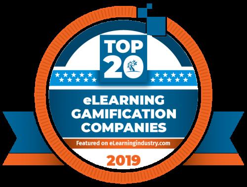 Top 20 elearning gamification award logo 2019