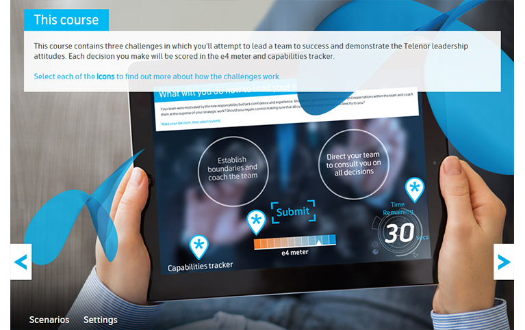 Telenor multi-device elearning