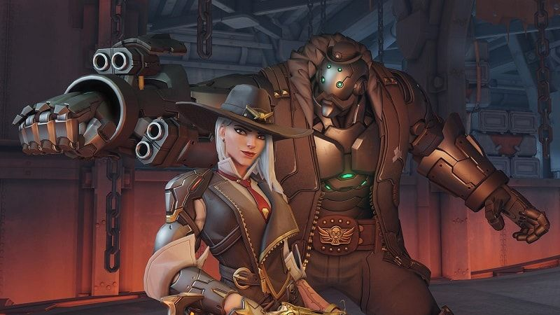 A screenshot of Ashe from the game Overwatch