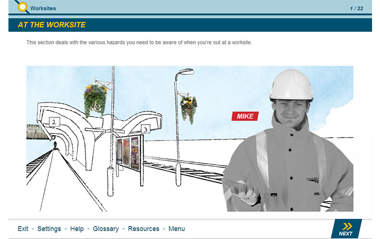 eLearning course - railway safety