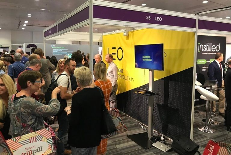 The LEO Learning stand at the Learning Technologies Summer Forum 2019 - ExCeL London