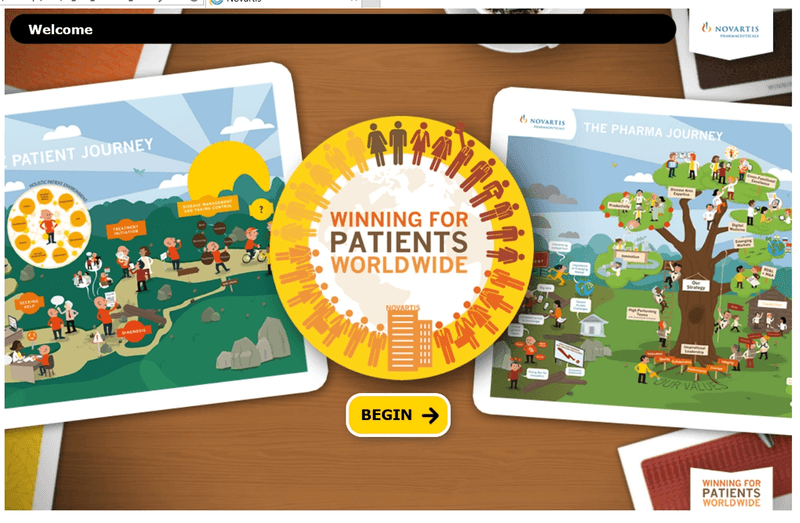 Novartis winning for patients elearning game