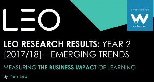 Measuring the business impact of learning 2017/2018 trends image