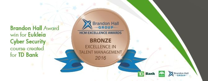 LEO GRC (formerly Eukleia) and TD Bank have won Best Advance in Training Programs that Require Global Accessibility Standards at the Brandon Hall Group Excellence Awards for Learning and Development