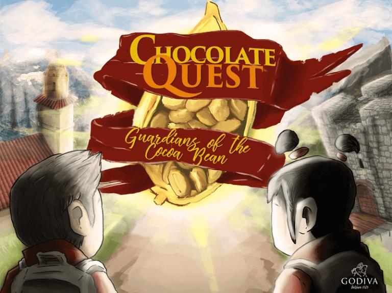 GODIVA chocolate quest screen