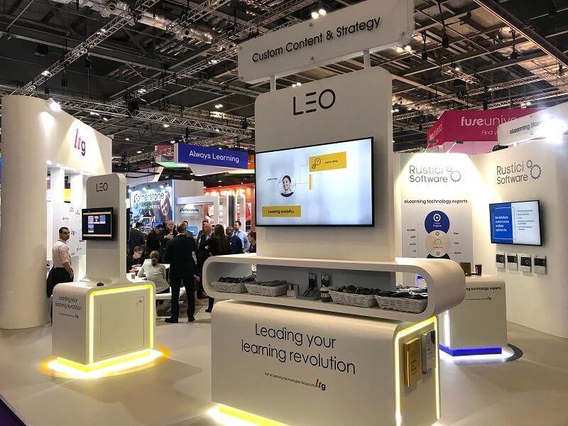 LEO Learning stand at Learning Technologies 2020