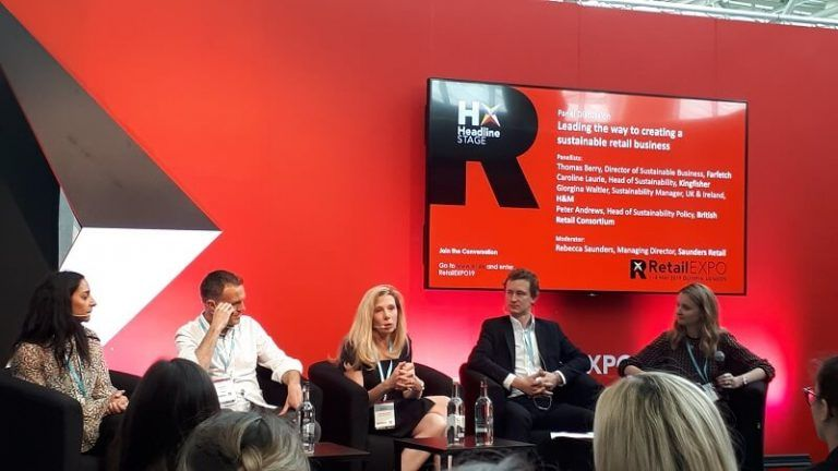 A panel discussion on sustainability in the retail sector from RetailEXPO 2019