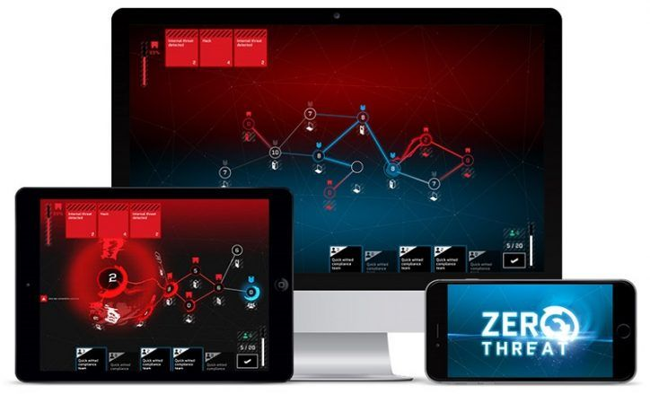 A screenshot from Zero Threat, an award-winning cybersecurity awareness learning game