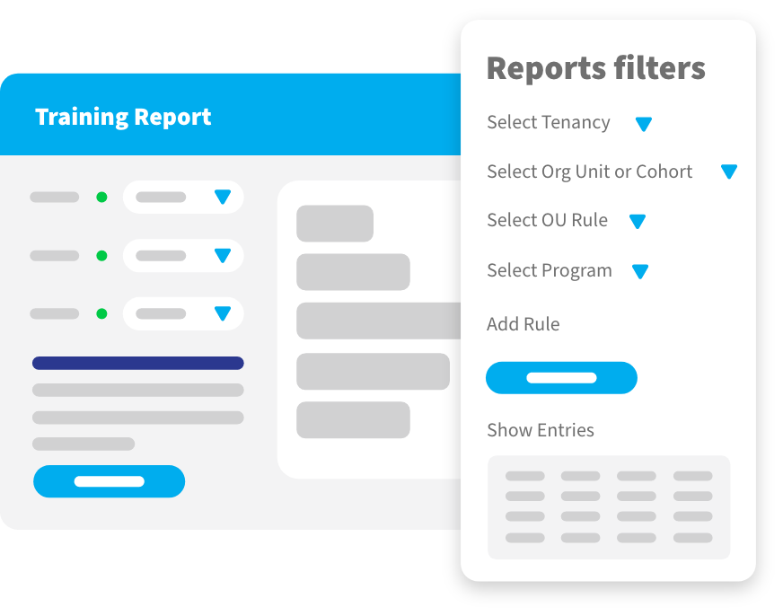 reports filters ui
