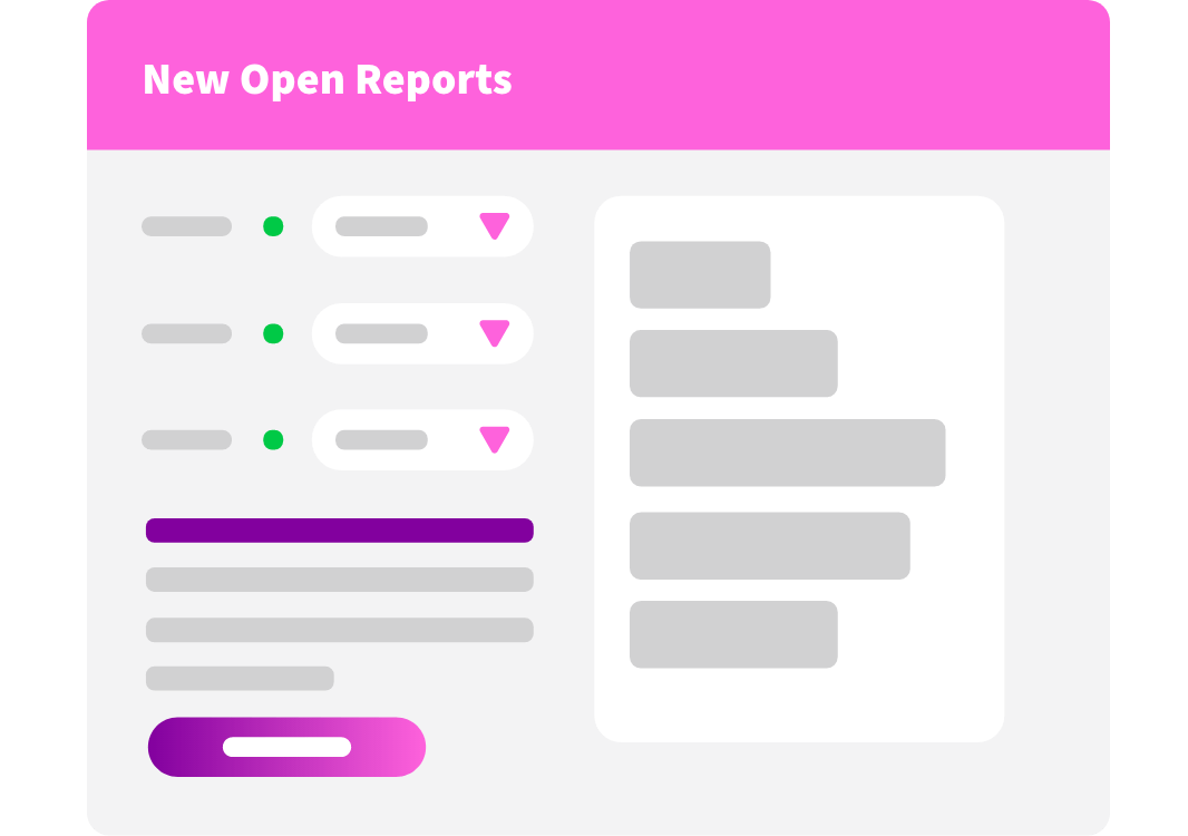 new open reports ui