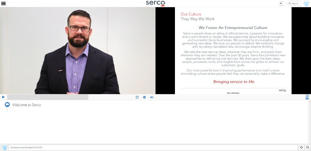 Serco Inc. Instilled Video example