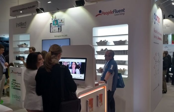 The PeopleFluent and Instilled stands at LT 2020