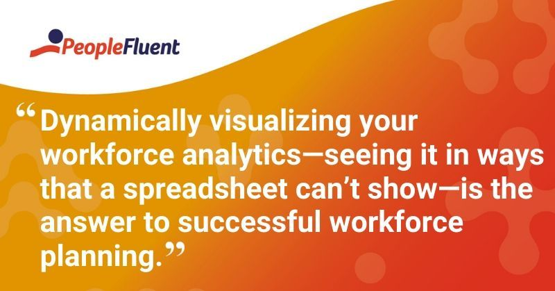 "This is a quote: ""Dynamically visualizing your workforce analytics-seeing it in ways that a spreadsheet can't show-is the answer to successful workforce planning."""