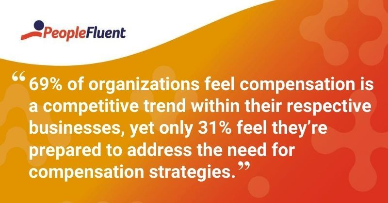 "This is a quote: ""69% of organizations feel compensation is a competitive trend within their respective businesses, yet only 31% feel they're prepared to address the need for compensation strategies."""