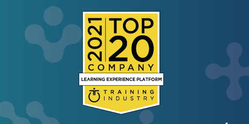 this is an image: PeopleFluent's corporate LXP, Instilled by PeopleFluent, has been named as a top LXP by Training Industry.