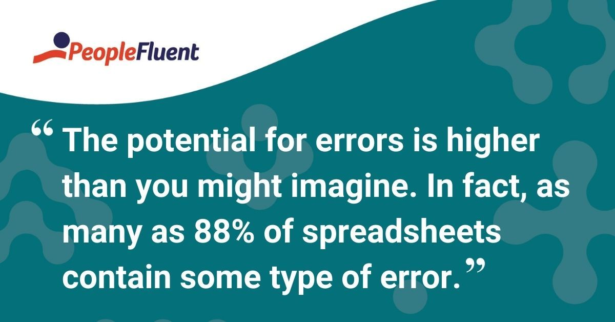 "This is a quote: ""The potential for errors is higher than you might imagine. In fact, as many as 88% of spreadsheets contain some type of error."""
