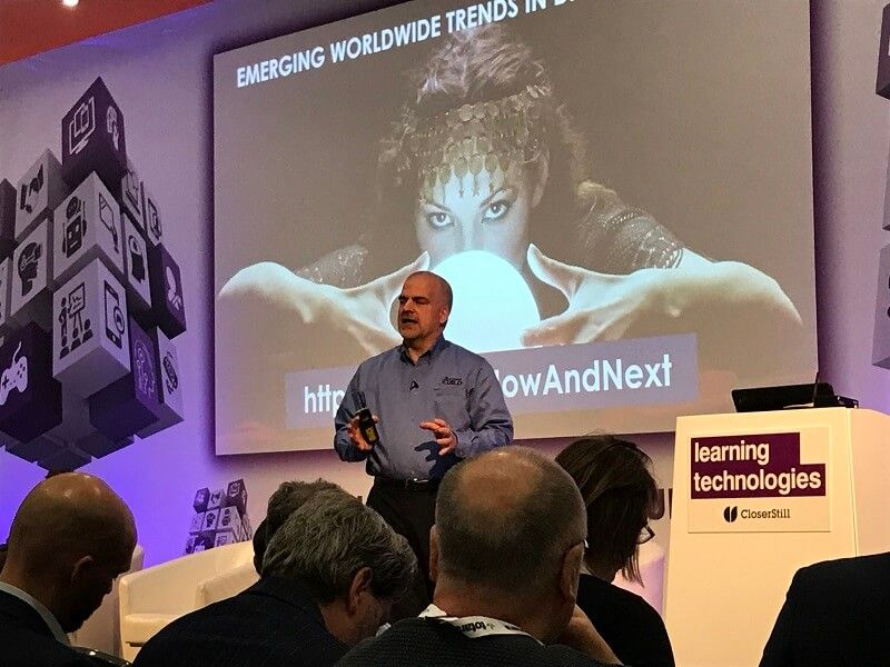 David Kelly, Executive Director at eLearning Guild, introduced some of the key trends shaping digital learning in the workplace in 2020
