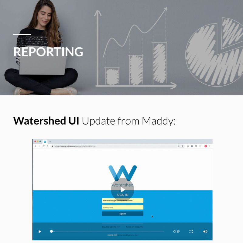 Watershed UI Update in athenahealth's Newsletter