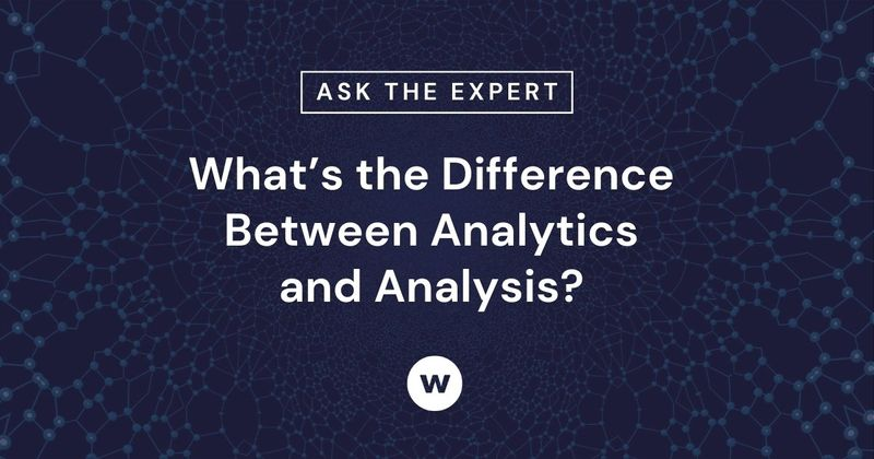 What is the difference between analysis and analytics?