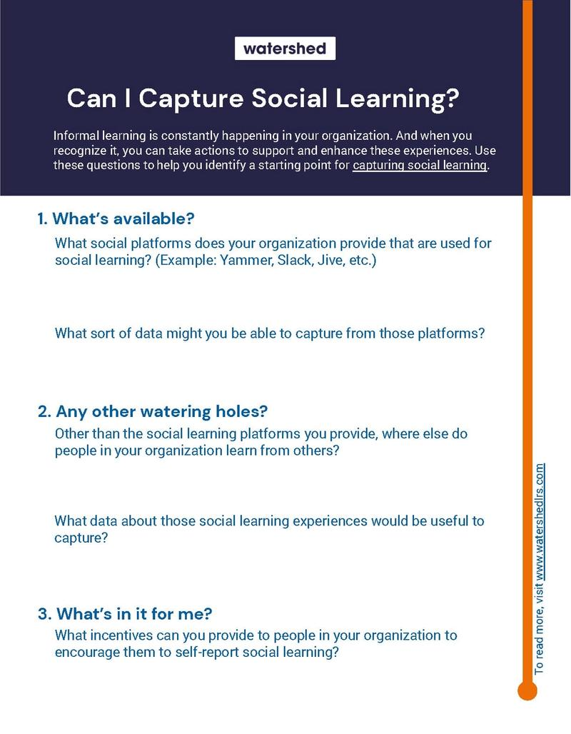 Capture Social Learning at Work