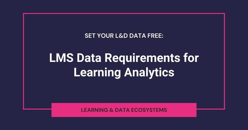 What are LMS data requirements for learning analytics?