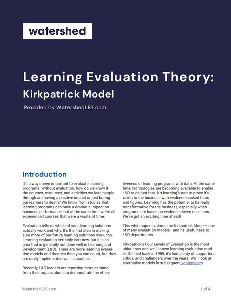 Kirkpatrick Learning Evaluation eBook