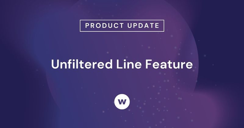 Watershed's Unfiltered Line option lets you compare filtered and unfiltered data on the same Line Report.
