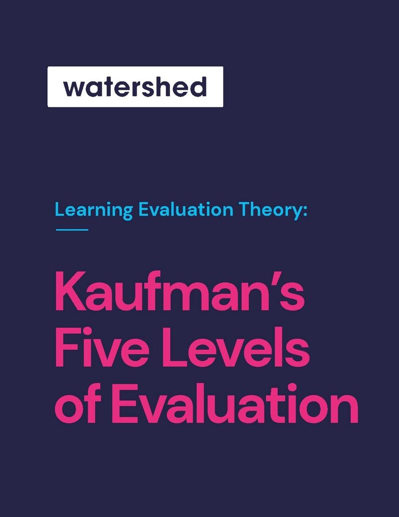 Kaufman's Learning Evaluation eBook