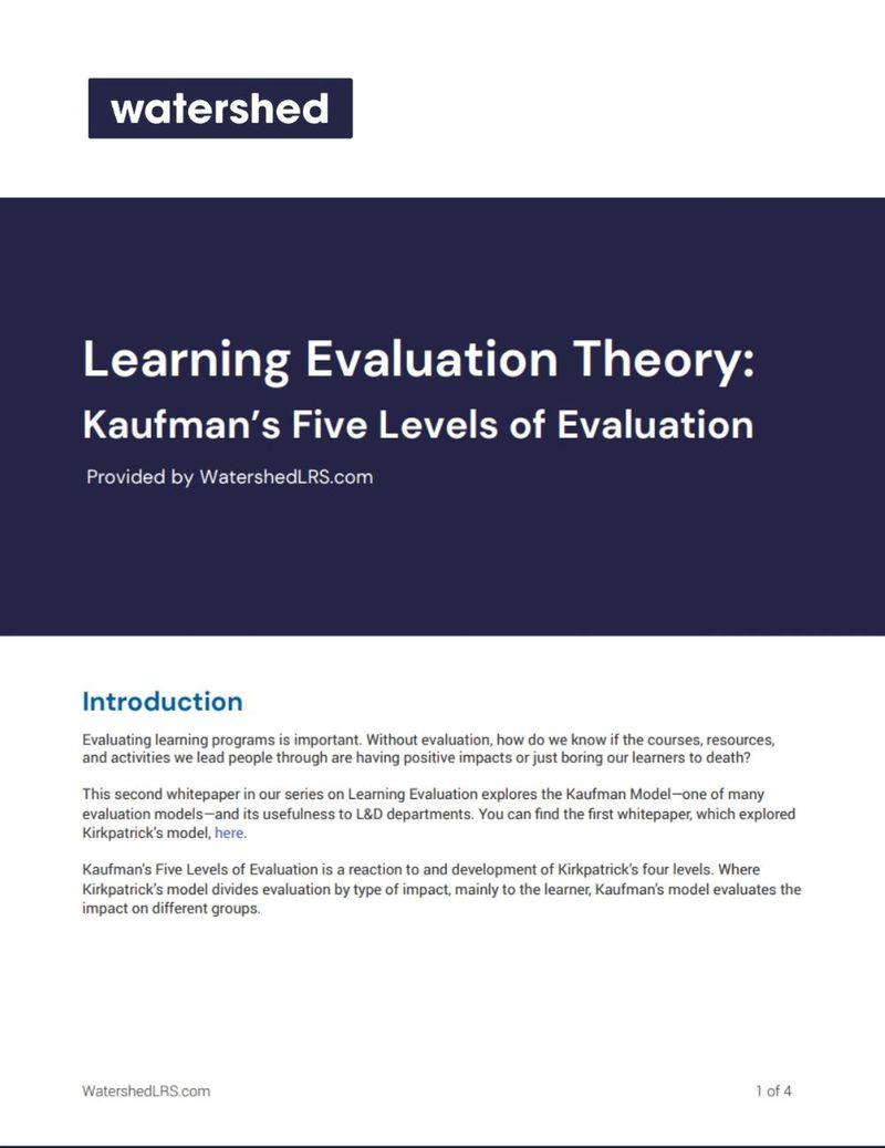 Kaufman's Learning Evaluation eBook