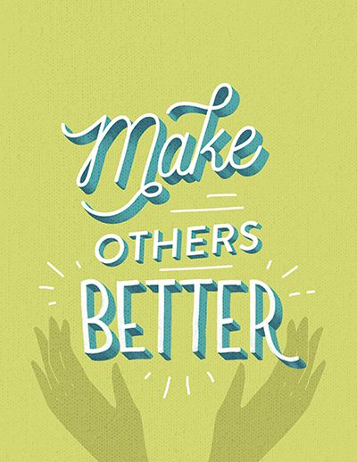 Make others better decorative typeface