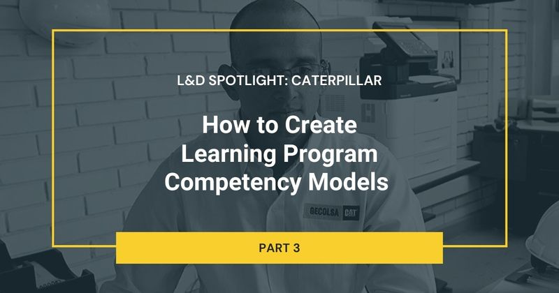 How to Create Learning Program Competency Models