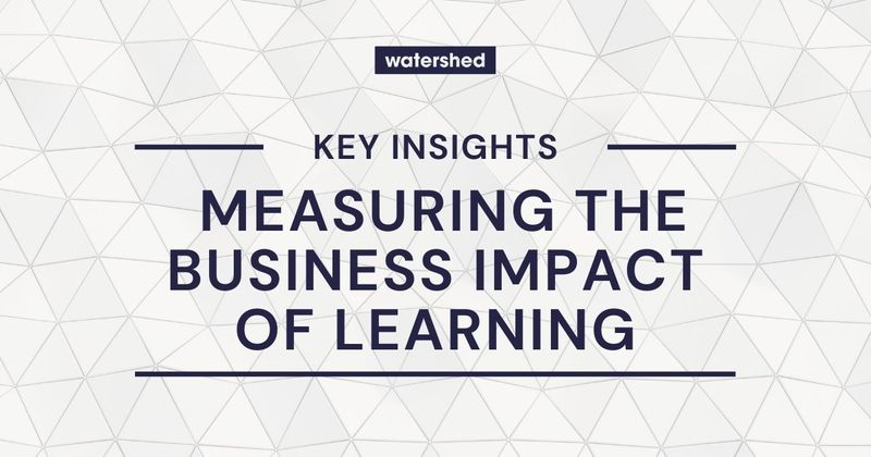 Measuring the Business Impact of Training