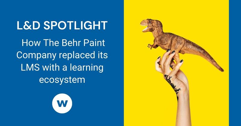 See how one organization replaced its LMS with a learning ecosystem.