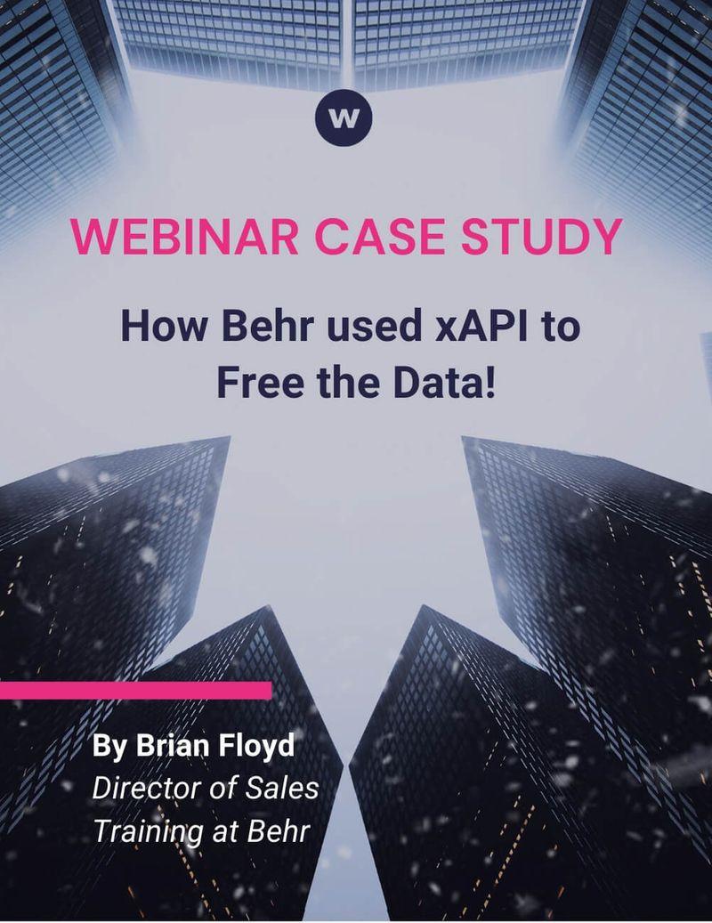 Behr Free the Data with xAPI Webinar