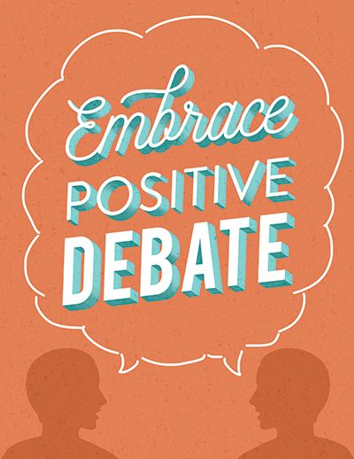 Embrace positive debate decorative typeface